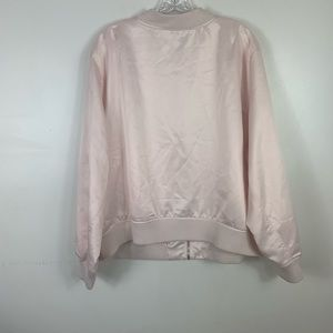 boutique Jackets & Coats - Soft pink full zip floral embroidered jacket 2X